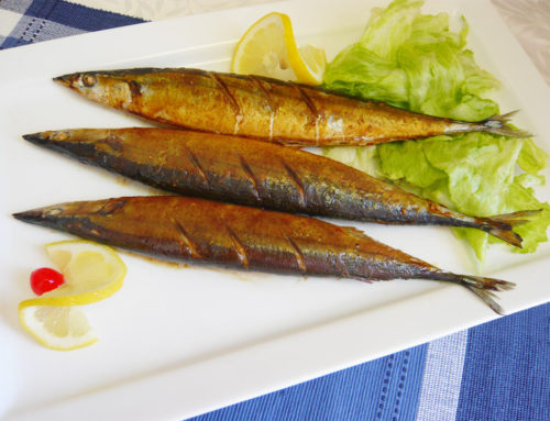 Baked Pacific Saury