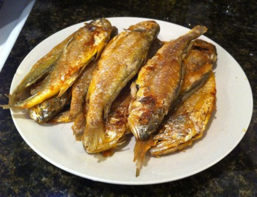 Pan Fried Small Yellow Croaker