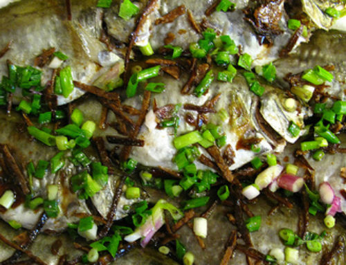 Steamed Rabbitfish with Tangerine Peel