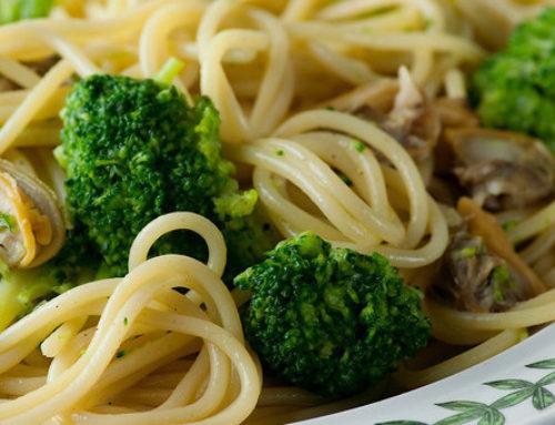 White Sauce Clam Spaghetti